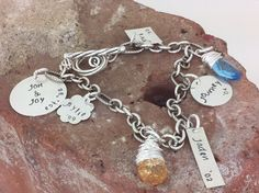 Sterling Silver Hand Stamped  Family Charm by mamaslittlenugget, $108.00