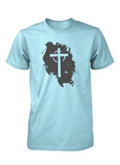 1eaed6d737a21 Jesús Vive Cruz Vacia Grunge Camiseta Cristiana