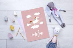 personalised unicorn print poster