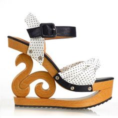 Show Story Polka Dots Wooden Wedge Platform Clogs Sandals Party Pumps,LY11805 Show Story, http://www.amazon.com/dp/B00CJBQWKU/ref=cm_sw_r_pi_dp_pHdLrb0NKB82H