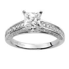 Princess cut is my thing... Beautiful! Looks just like mine! He did so good :)