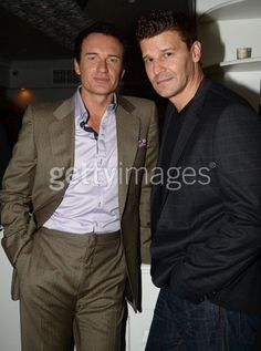 Actors Julian McMahon and David Boreanz attend the launch of DIRECTVs. Cole Charmed, Beautiful Men, Beautiful People, Julian Mcmahon, Celebrities Then And Now, David Boreanaz, Sexy Men, Hot Men, It Takes Two