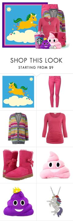 """""""Starbucks- Unicorn Frappaccino"""" by lilarose111 ❤ liked on Polyvore featuring ONLY, Marc Jacobs and UGG"""