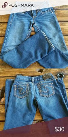 d8adba6c308336 Silver jeans-dark Low rise boot cut. Length 31 Silver Jeans Jeans Boot Cut