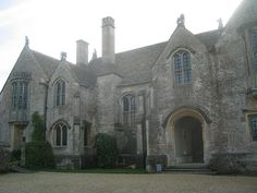 """Great Chalfield Manor near Melksham, Wiltshire: www.nationaltrust.org.uk/main/w-vh/w-visits/w-findaplace/... Charming 15th-century manor house with Arts & Crafts garden * Encircled by a moat and defensive wall * Ornate Oriel windows, a gatehouse and great hall This location was used for the filming of """"The Other Boleyn Girl"""" starring Scarlett Johansson.  The room with the oriel window on the left is the Solar or Great Chamber - this was used as Boleyn's bedroom for the movie. The oriel…"""