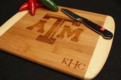 Texas A&M Custom Personalized Bamboo Bar Cheese by AestheticWood