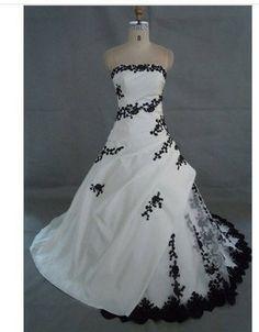 3fd7cf678e3 livraison gratuite noir et blanc robe de mariée broderie Robe Couleur
