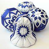 Dekorácie - Modré Vianoce - zvonček - 6171289_