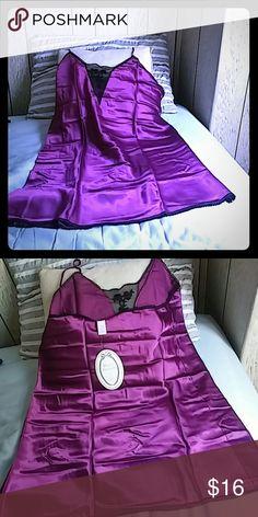 Private Treasures by Avon Brand new size: X-Large color: Amethyst Satin Chemise Avon Intimates & Sleepwear Chemises & Slips