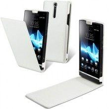 Funda Piel Original Made For Sony Xperia S - Blanca  AR$ 139,93