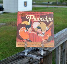 Vintage Walt Disney's, Pinocchio, Disneyland, Long-Playing, Record, 1973, 33 1/3 rpm, Walt Disney, Productions, Vintage Disney, Music by winterparkcollect on Etsy