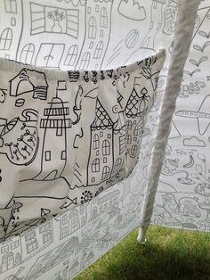 Giant Color Me TeePee Tent Purse with by BabySuzannaJohanna