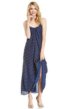 Pink Stitch Resort Maxi Dress in Navy 0 - 8 | DAILYLOOK