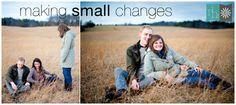 Amazing Photographer with great ideas!! Rebekah Hoyt Photography - Fotog Friday: Making SmallChanges