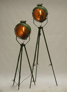 Two 1900s French Theater Lights   From a unique collection of antique and modern floor lamps  at https://www.1stdibs.com/furniture/lighting/floor-lamps/