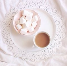 ♡ coffee and marshmallows