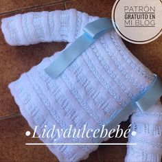 """You can find the pattern both in English and Spanish aRavelry: Hypnosis mittens pattern by Svetlana GordonDROPS Pullunder aus """"Baby Merino"""", in Rippen Knitted Baby Clothes, Knitted Baby Blankets, Baby Blanket Crochet, Crochet Baby, Knitted Hats, Diy Crafts Knitting, Rainbow Crochet, Baby Coat, Baby Cardigan"""