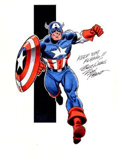 Captain America by Ron Frenz