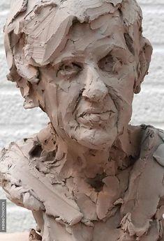 Human Sculpture, Sculpture Head, Pottery Sculpture, Ceramic Sculpture Figurative, Figurative Art, Aluminum Foil Art, Buddha Wall Art, Cement Art, Ceramic Texture