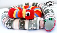 make toy snakes out of tights