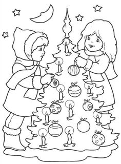 Christmas coloring pages Cat Coloring Page, Coloring Pages For Boys, Cartoon Coloring Pages, Free Coloring Pages, Printable Coloring Pages, Coloring Books, Christmas Tree Printable, Christmas Clipart, Colorful Christmas Tree