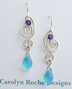 Inspirational Beach Glass Earrings