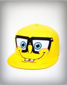 SpongeBob Nerd Flatbill Hat Spencer s  19.99 Gorras Planas 04701038a01