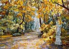 Картина Летний сад Миневра