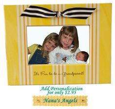 Grandparent Gifts are our specialty at The BananaNana Shoppe where you will find unique gifts and other fun stuff! An amazing frame that bring smiles all throughout the year! Frame can be personalized!