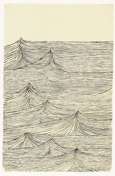 Louise Bourgeois - waves line drawing