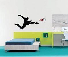 Vinyl Wall Sticker Decal Art  Soccer Player by urbanwalls on Etsy, $39.00