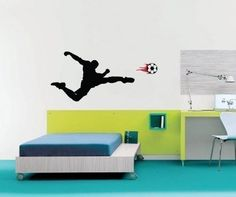 Vinyl Wall Sticker Decal Art  Soccer Player by urbanwalls on Etsy, $39.00