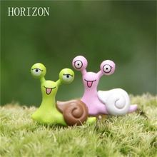 New1pair Fairy Garden Dollhouse Toys Mini Snails Micro potted landscape & bonsai Accessories Ornaments Figurine Decor(China (Mainland))