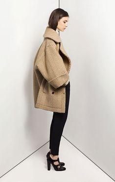 Chloe Luxury cashmere sweater   Stretch wool skinny leg trousers Sandalwood reversible quilted jacket Grand chevron wool coat