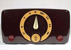 Vintage ZENITH 1952 Classic Antique Bakelite Tube Radio K510 FULLY RESTORED #Zenith
