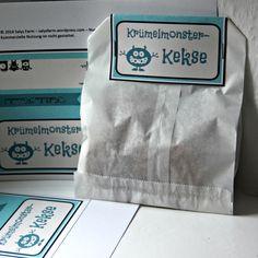 Etikett (und Rezept) Krümelmonster-Kekse