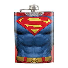 8oz  Strong Man Body Shape Liquor Hip Flask Stainless Steel FK0658 -- You can get more details by clicking on the image.
