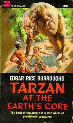Title: Tarzan at the Earth& Core Tarzan Series, Tarzan Book, Tarzan Of The Apes, Fantasy Authors, Prehistoric Creatures, Monster Art, Panther, Arrow, Fantasy Art