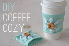 Cute idea. Throw away the cup and pop the cozy onto your arm to insure you don't loose it. I'm not sure about the unfinished edge though...