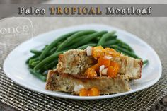 Tropical Chicken Meatloaf - a light and delicious meatloaf perfect for summer - paleo, oamc, freezer meals, whole30