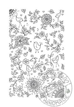 Handdrawn digital coloring page drawn by me. Print as many as you want!    A4 format  pdf file  300dpi    print on heavy paper or cardstock, grab