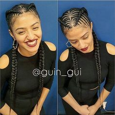 Dope cornrows!!! Braided by @guin_guiTag us