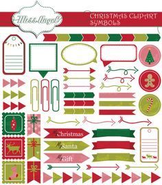 Christmas frames and symbols clipart. Xmas by MissAngelClipArt
