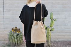 Fine Life Co | Wayfare Drawstring Bag in Latte