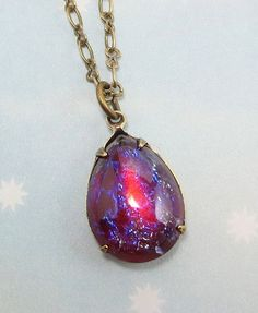 Mexican Opal Dragons Breath Fire Opal by dfoxjewelrydesigns