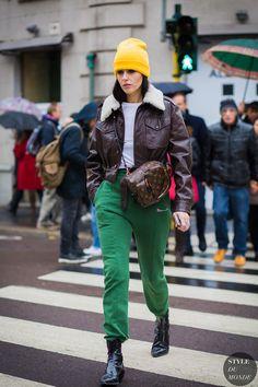 Milan Fashion Week FW 2016 Street Style: Gilda Ambrosio