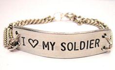 """I love my Soldier""  Bracelet"