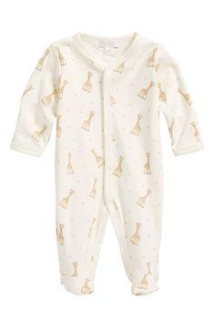 Kissy Kissy Baby-Boys Infant Organic Mini Bears ECRU Embroidered Footie