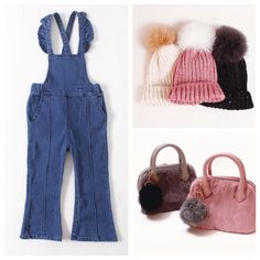 Adorable and perfect for the fall season! These denim overalls have ruffle details on the straps and a flared leg. ‹æYou will both love these overalls! ‹æMake sure to grab these sunnies to complete the look! Trendy Girl, Denim Overalls, Girls Rompers, Baby Girl Fashion, Sunnies, Georgia, Legs, Collection, Sunglasses