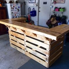 Handcrafted bar made from reclaimed wood. Perfect for the backyard ...
